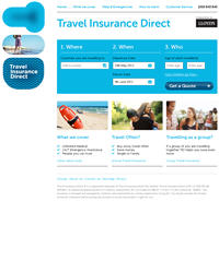 TID Travel Insurance website