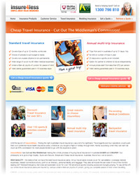 insure4less Travel Insurance website